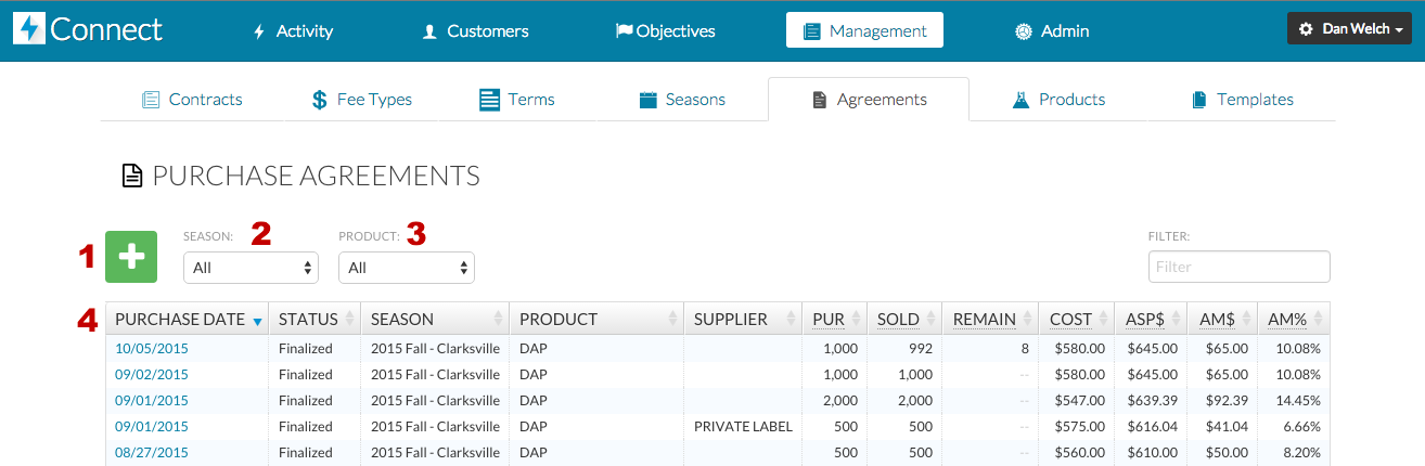 Manage Purchase Agreements Dtn Connect